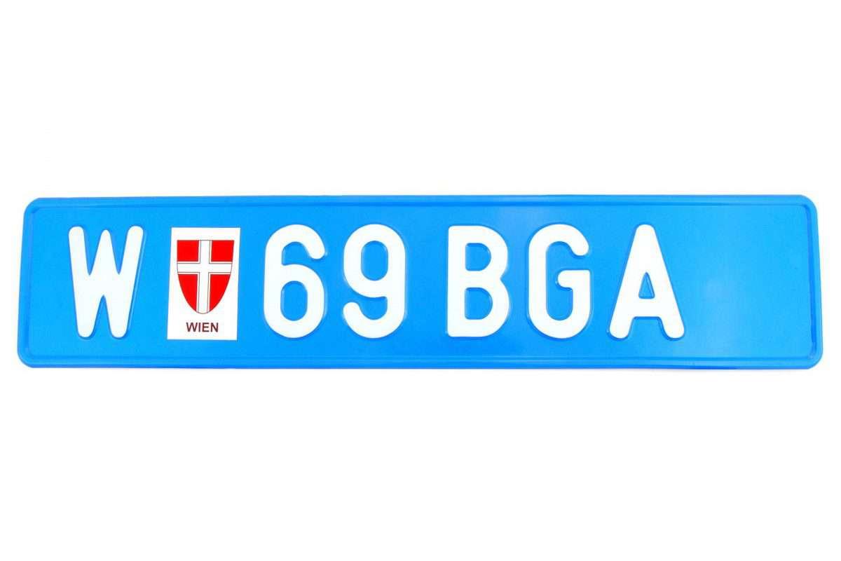 austriacka tablica rejestracyjna