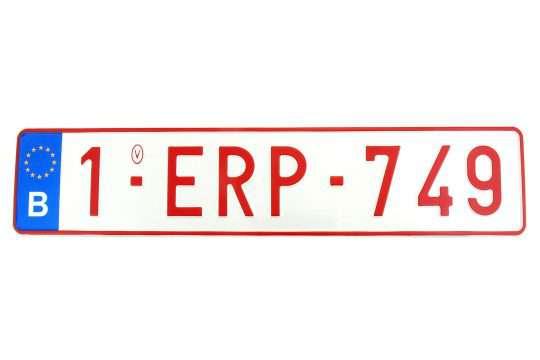 Kolekcjonerska tablica rejestracyjna – Belgia