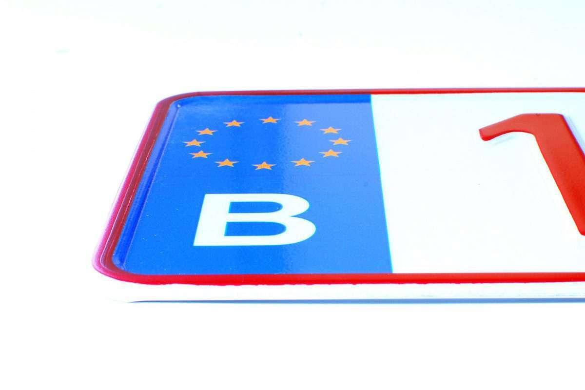 belgijska tablica rejestracyjna