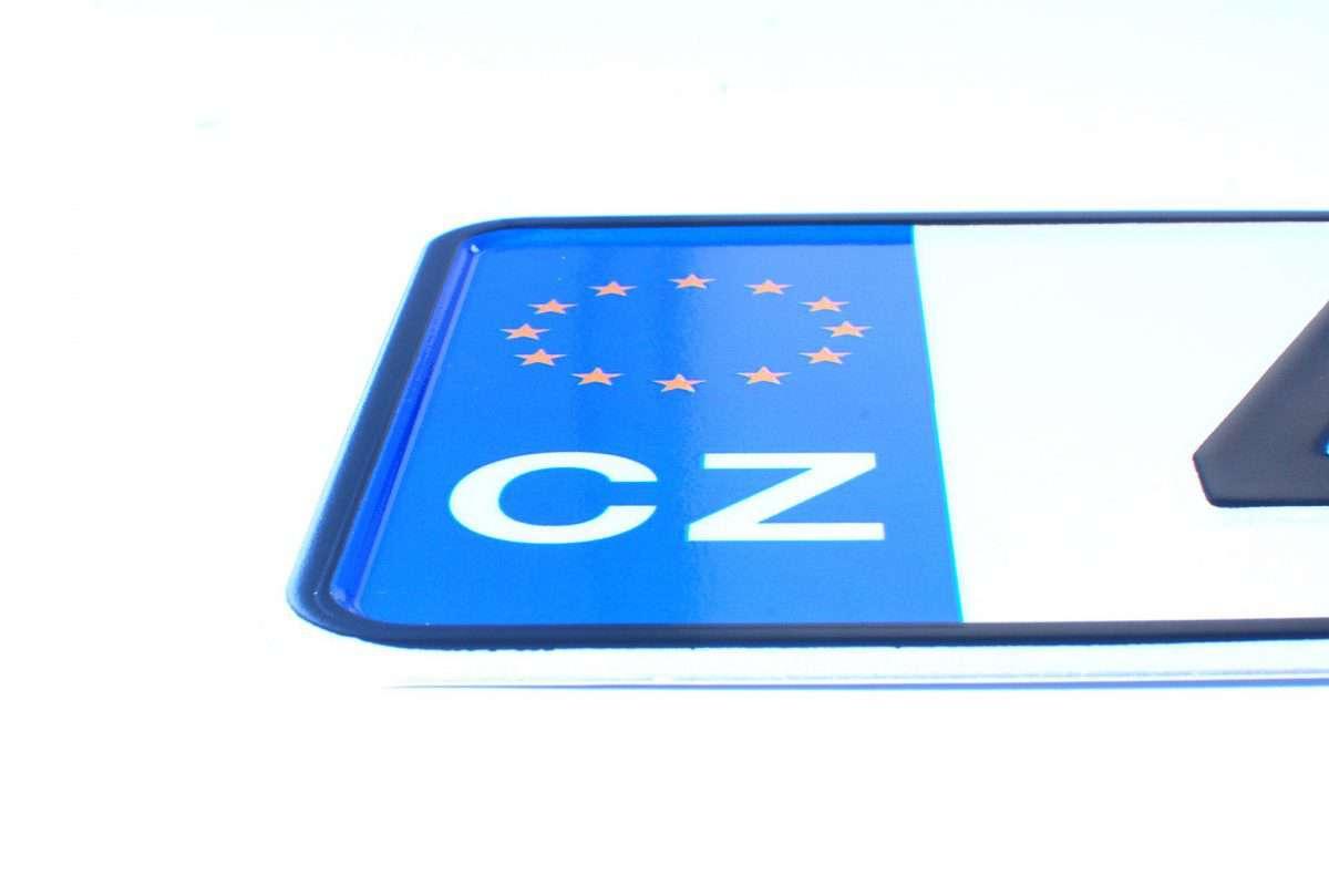 czeska tablica rejestracyjna