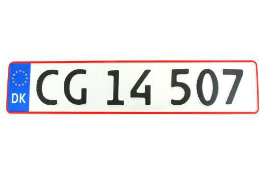 Kolekcjonerska tablica rejestracyjna – Dania