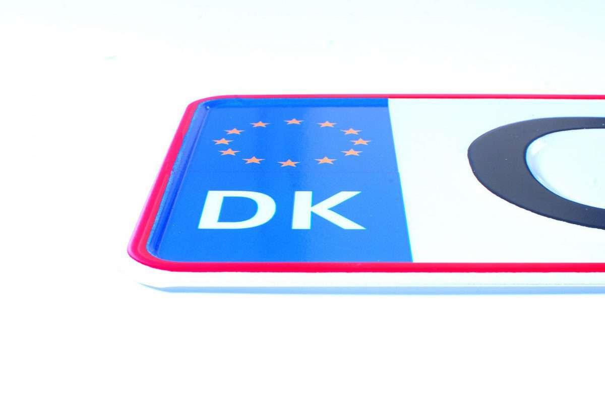 duńska tablica rejestracyjna