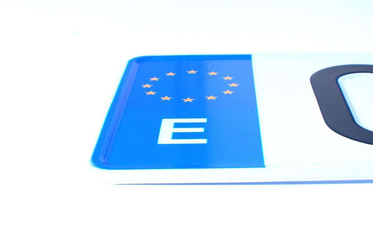 hiszpańska tablica rejestracyjna