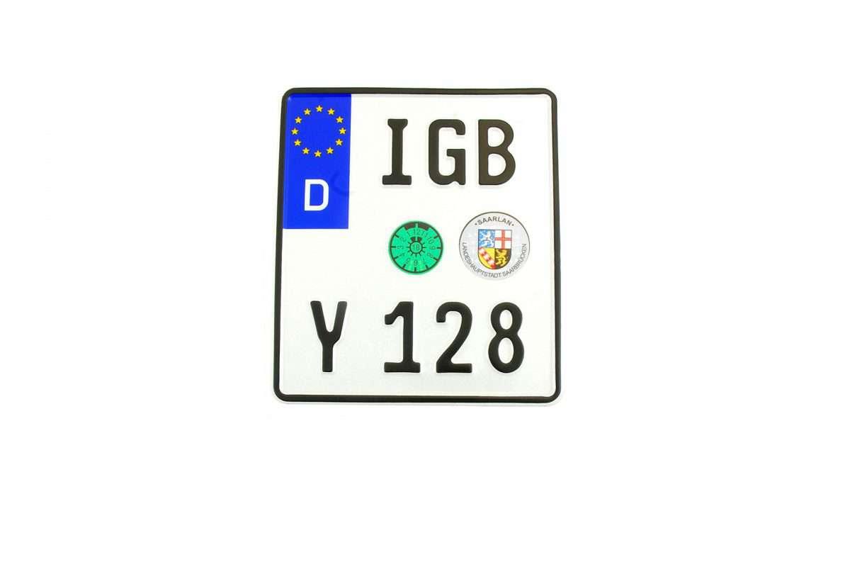 niemiecka tablica rejestracyjna