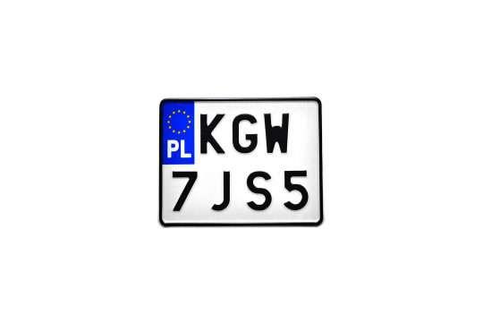 Kolekcjonerska tablica rejestracyjna – Polska – motocyklowa