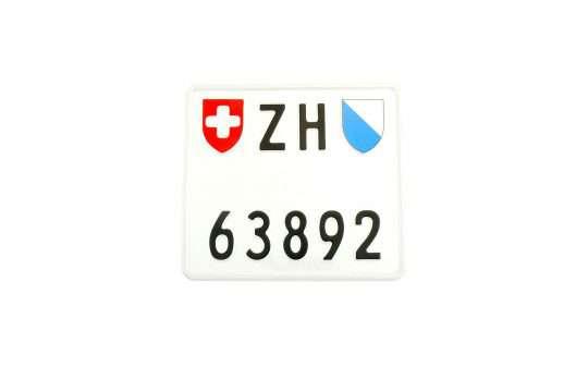 Kolekcjonerska tablica rejestracyjna – Szwajcaria