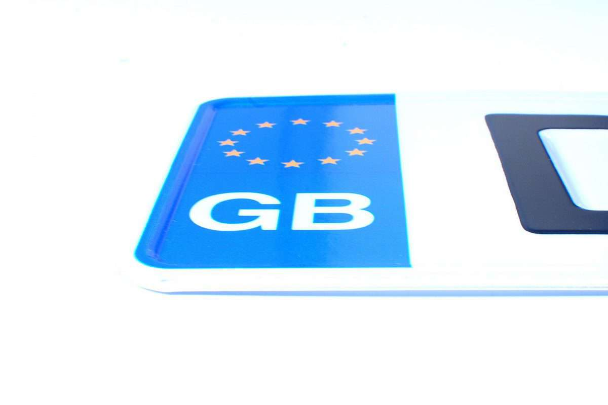 brytyjskie tablice rejestracyjne