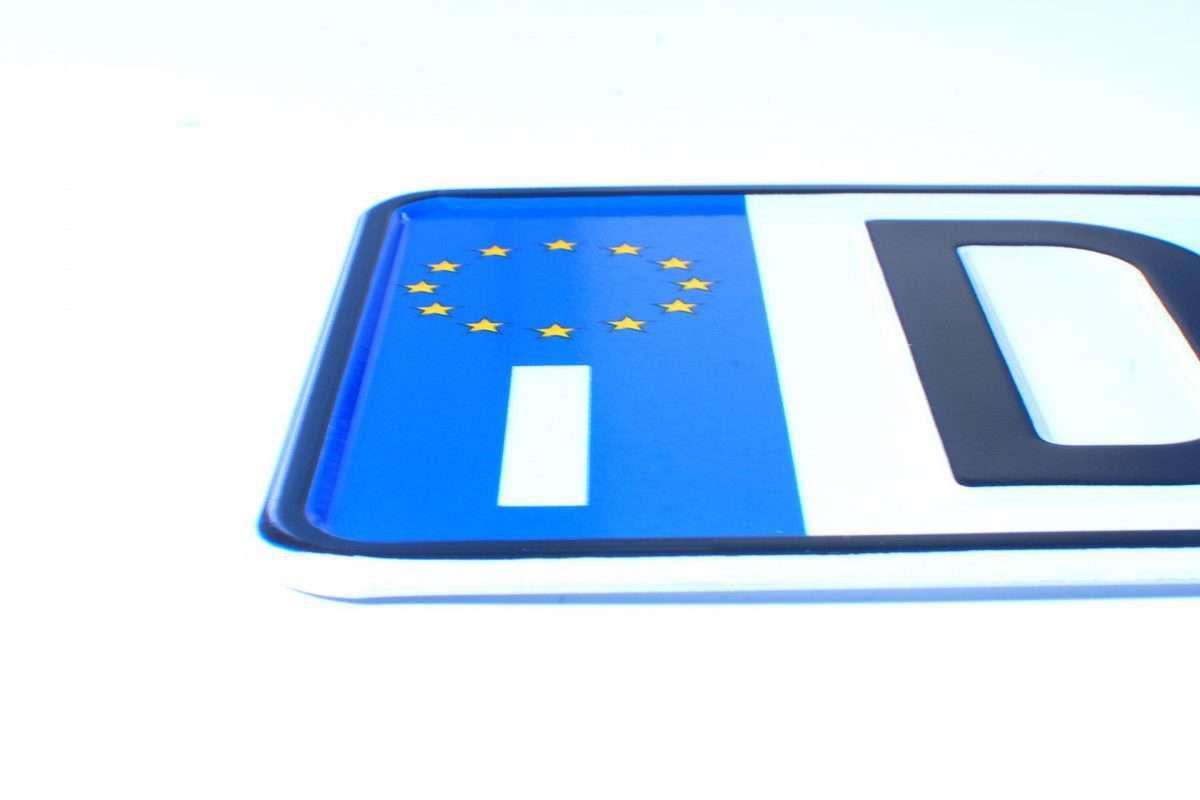 włoskie tablice rejestracyjne
